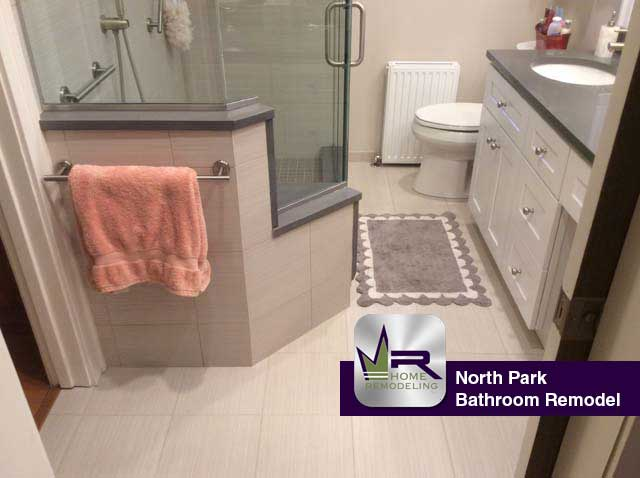 North Park Bathroom Remodel - 5844 Virginia Ave, Chicago, IL 60659 by Regency Home Remodeling