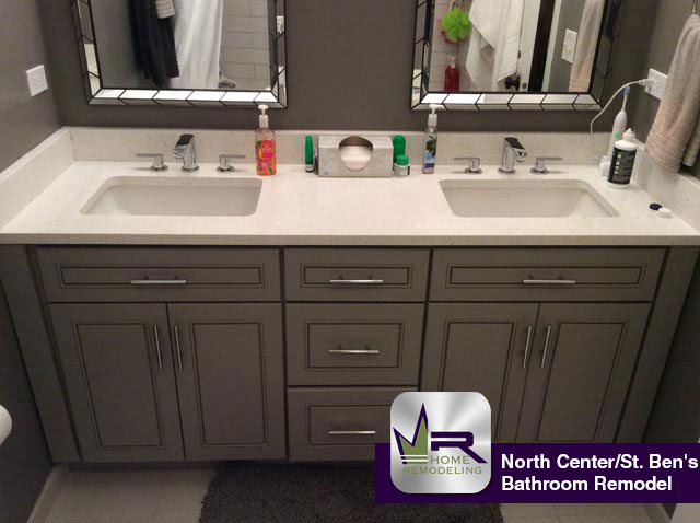 North Center St Bens Bathroom Remodel Regency Home Remodeling - Bathroom remodeling crystal lake il