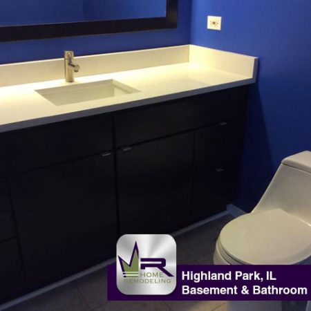 Basement Bathroom Remodel In Highland Park IL Regency - Bathroom remodel order
