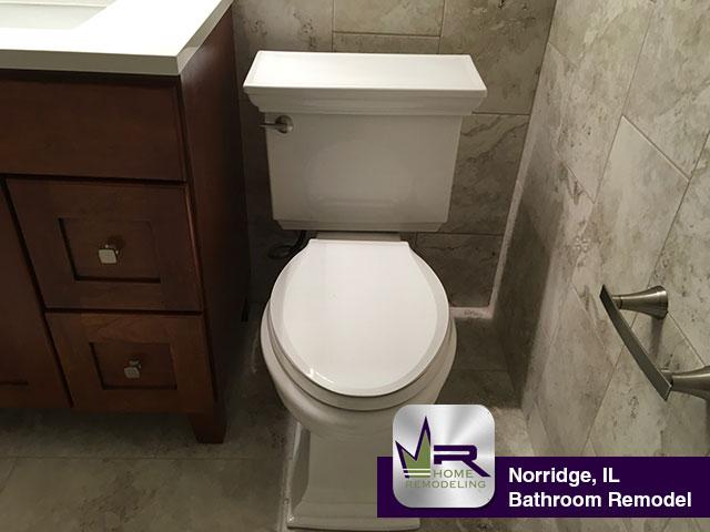 Norridge Bathroom Remodel - 4541 N. Potawatomie Ave, Chicago, IL 60656 by Regency Home Remodeling