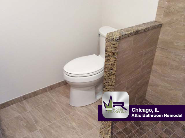 Attic Bathroom Remodel - 2833 North Spaulding Ave, Chicago, IL 60618 by Regency Home Remodeling
