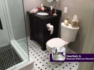 The Residents Of This Lovely Home Were Looking To Upgrade And Modernize The  Bathroom In Their Basement. Regency Started The Job By Removing Of All  Cabinetry ...