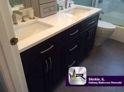 Hallway Bathroom Remodel - 4525 Brummel St, Skokie, IL 60076 by Regency Home Remodeling