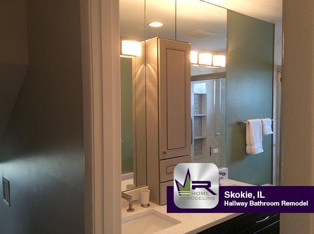 Hallway Bathroom Remodel - 4525 Brummel St, Skokie, IL 60076 by Regency Home Remodeling