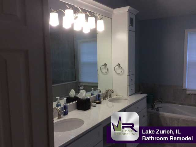 Bathroom Vanities Lake Zurich Il bathroom remodel in lake zurich, il - regency home remodeling