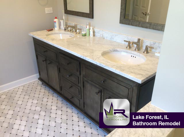 Bathroom Remodel - 1295 Inverlieth Rd, Lake Forest, IL 60045 by Regency Home Remodeling