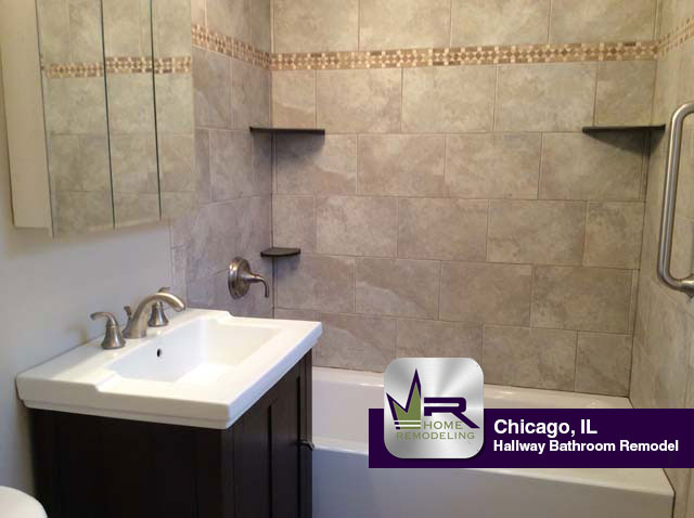 Hallway bathroom remodel in chicago regency home remodeling Chicago bathroom remodeling