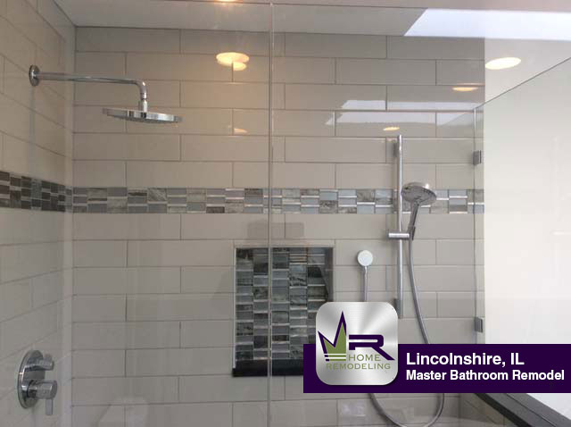 Master Bathroom Remodel In Lincolnshire IL Regency Home Remodeling - Daltile elk grove village il