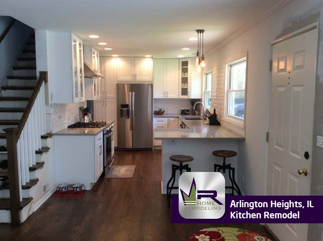 Kitchen remodel in Arlington Heights by Regency Home Remodeling