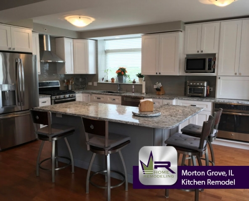 Kitchen remodel in Morton Grove, IL by Regency Home Remodeling