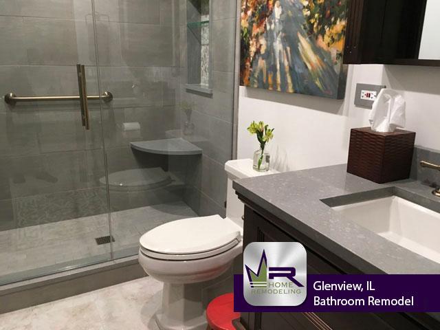 Bathroom Remodel - 2112 Franklin Dr, Glenview, IL 60026 by Regency Home Remodeling