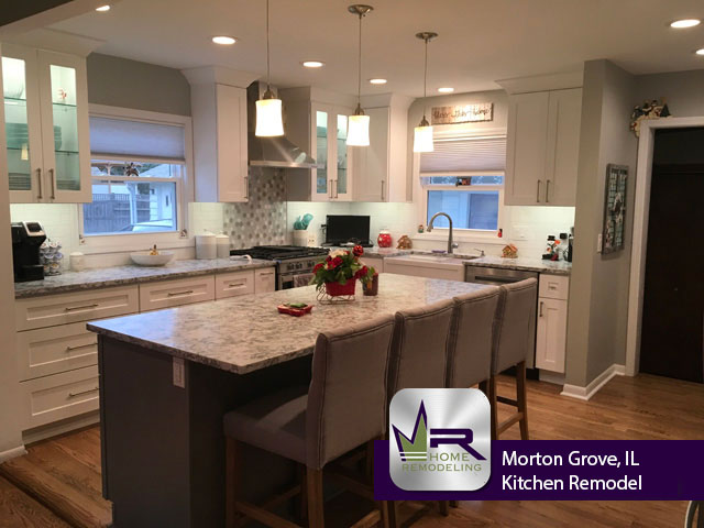 Kitchen Remodel on Foster St in Morton Grove by Regency Home Remodeling