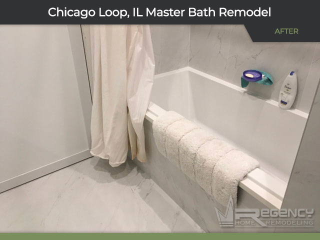 Master Bathroom Remodel - 212 W Washington St, Chicago, IL 60606 by Regency Home Remodeling