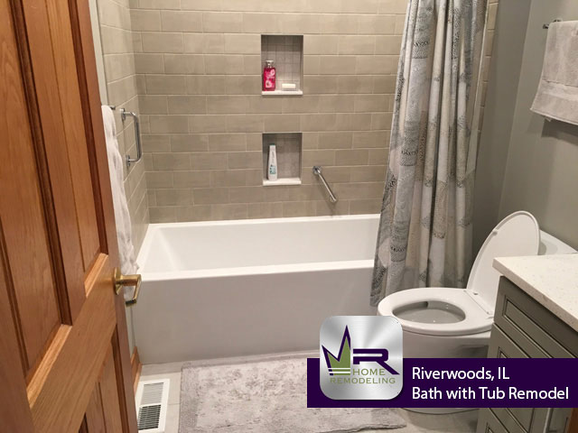 Bathroom with Tub Remodel - 975 Portwine Rd, Riverwoods, IL 60015 by Regency Home Remodeling