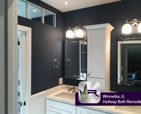 Hallway Bath Remodel - 146 Woodland Ave, Winnetka, IL 60093 by Regency Home Remodeling