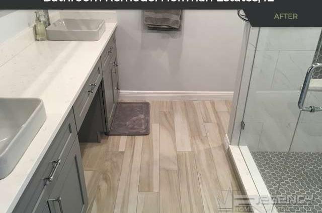 Bathroom Remodel - 1255 W. Sturbridge Drive, Hoffman Estates, IL 60192 by Regency Home Remodeling