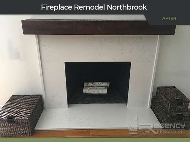 Fireplace Remodel - 322 Red Coach Ln, Northbrook, IL 60062 by Regency Home Remodeling