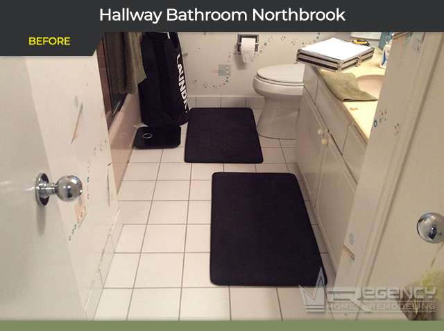 Hallway Bathroom Remodel - 322 Red Coach Ln, Northbrook, IL 60062 by Regency Home Remodeling