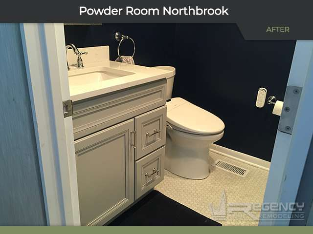 Powder Room Remodel - 322 Red Coach Ln, Northbrook, IL 60062 by Regency Home Remodeling