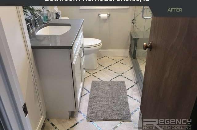 Bathroom Remodel - 8033 Lorel Ave, Skokie 60077 by Regency Home Remodeling