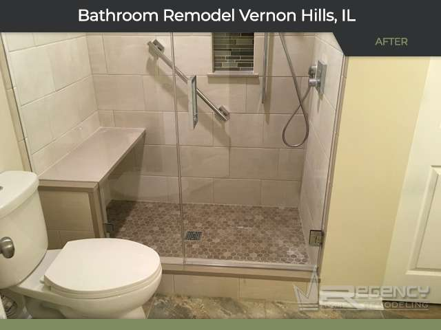 Bathroom Remodel - 189 Congressional Ct, Vernon Hills, IL 60061 by Regency Home Remodeling