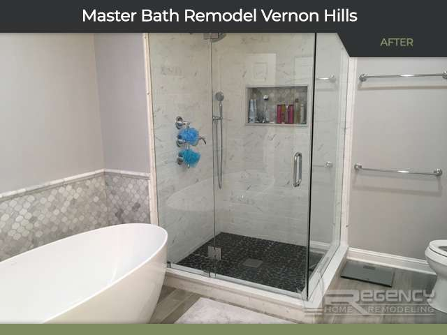 Master Bathroom Remodel - 683 Sussex Cir, Vernon Hills, IL 60061 by Regency Home Remodeling