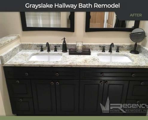 Hallway Bath Remodel - 33315 N Lake Shore Dr, Grayslake, IL 60030 by Regency Home Remodeling