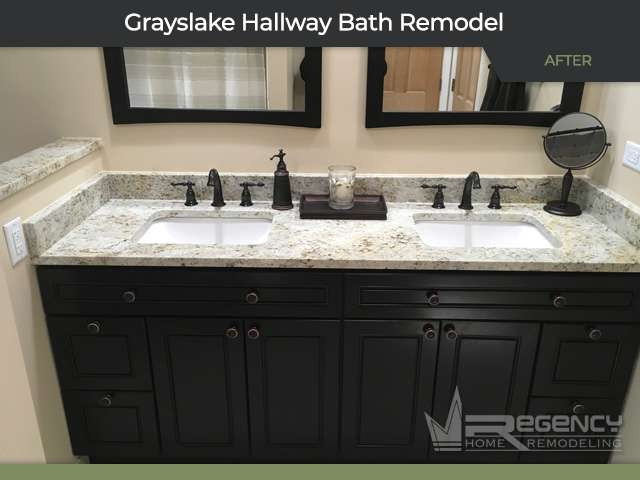 Hallway Bath Remodel - 33315 N Lake Shore Dr, Grayslake, IL 60030 by Regency Home Remodeling
