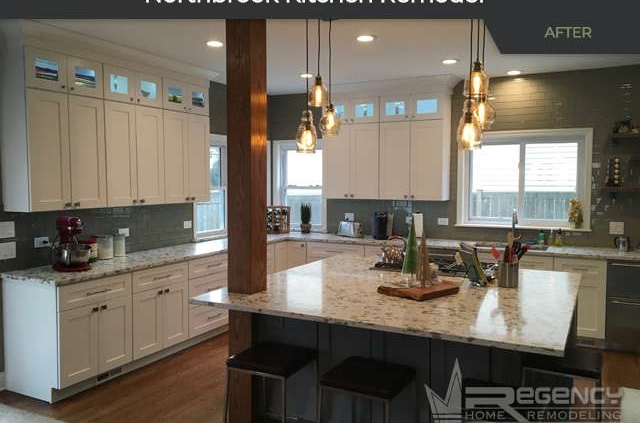 Kitchen Remodel - 1113 Blackthorn Ln, Northbrook, IL 60062 by Regency Home Remodeling
