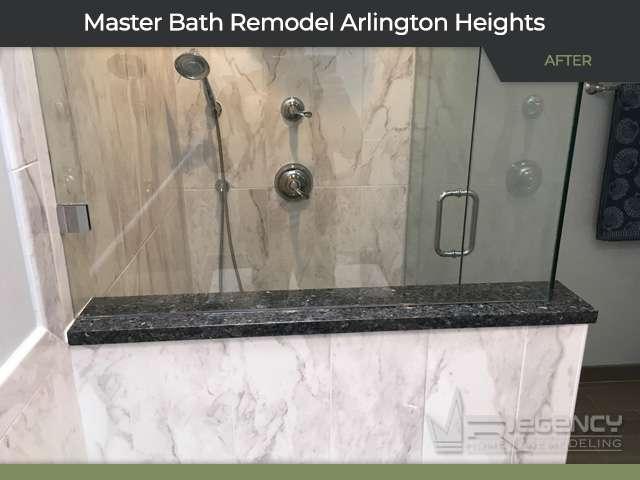 Master Bath Remodel - 1667 Courtland Dr, Arlington Heights, IL 60004 by Regency Home Remodeling