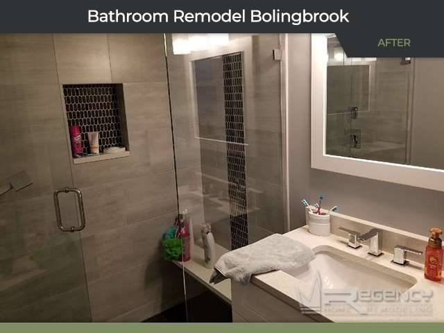 Basement Bathroom Remodel - 380 N Pinecrest Rd, Bolingbrook, IL 60440 by Regency Home Remodeling