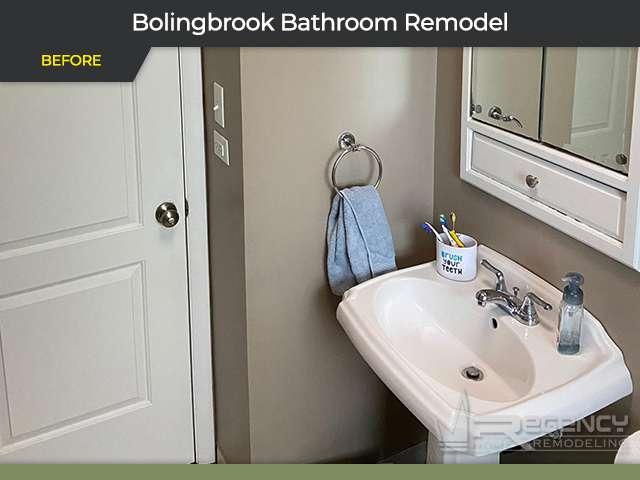 Hallway Bathroom Remodel - 380 N Pinecrest Rd, Bolingbrook, IL 60440 by Regency Home Remodeling