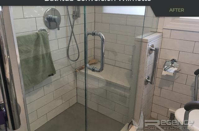 Hall Bath Remodel - 2046 Wilmette Ave, Wilmette, IL 60091 by Regency Home Remodeling